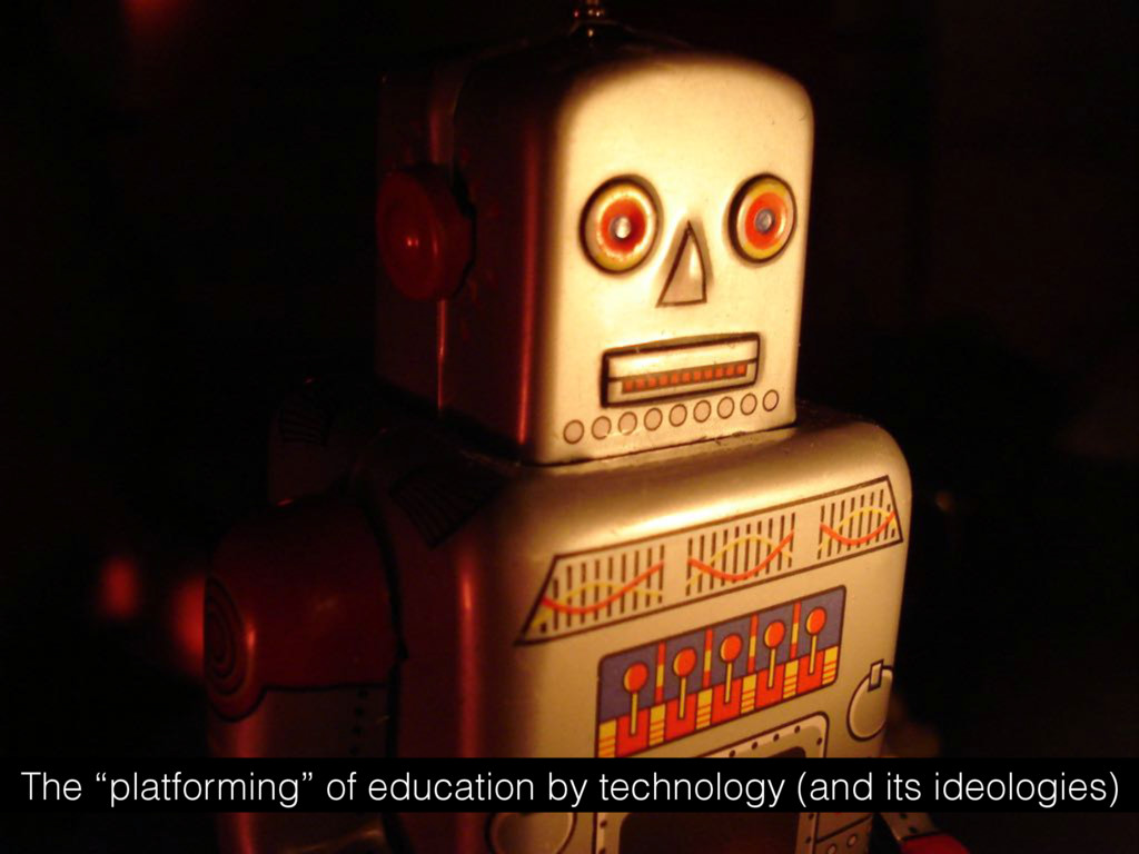 """The """"platforming"""" of education by technology (a..."""