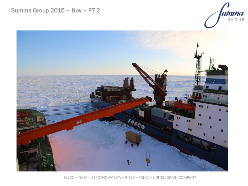 Summa Group 2015 – Nov – PT 2 FESCO – NCSP - ST...