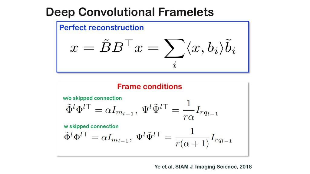 Deep Convolutional Framelets x = ˜ BB>x = X i h...