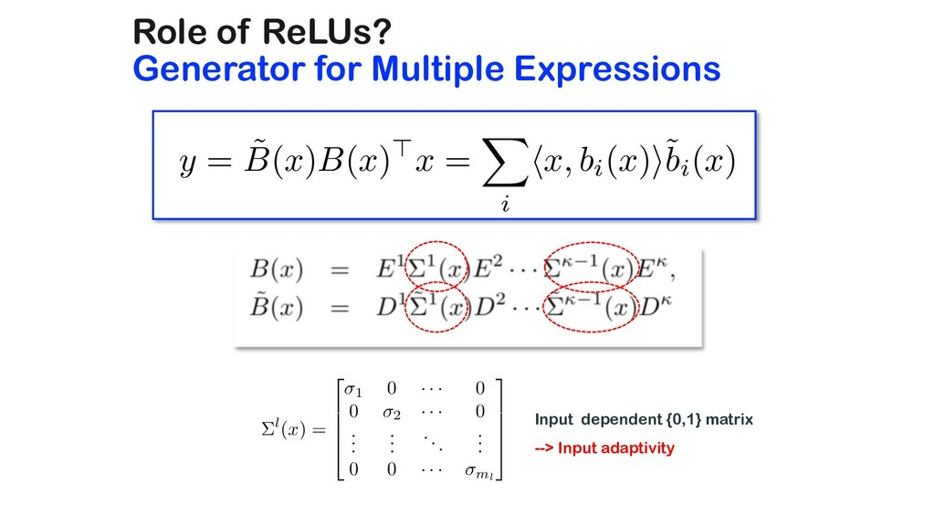 Role of ReLUs? Generator for Multiple Expressio...