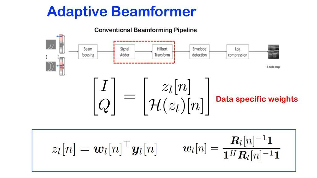 Adaptive Beamformer Conventional Beamforming Pi...