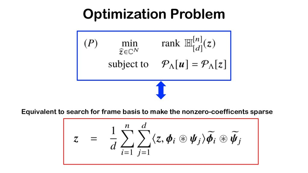 Optimization Problem Equivalent to search for f...