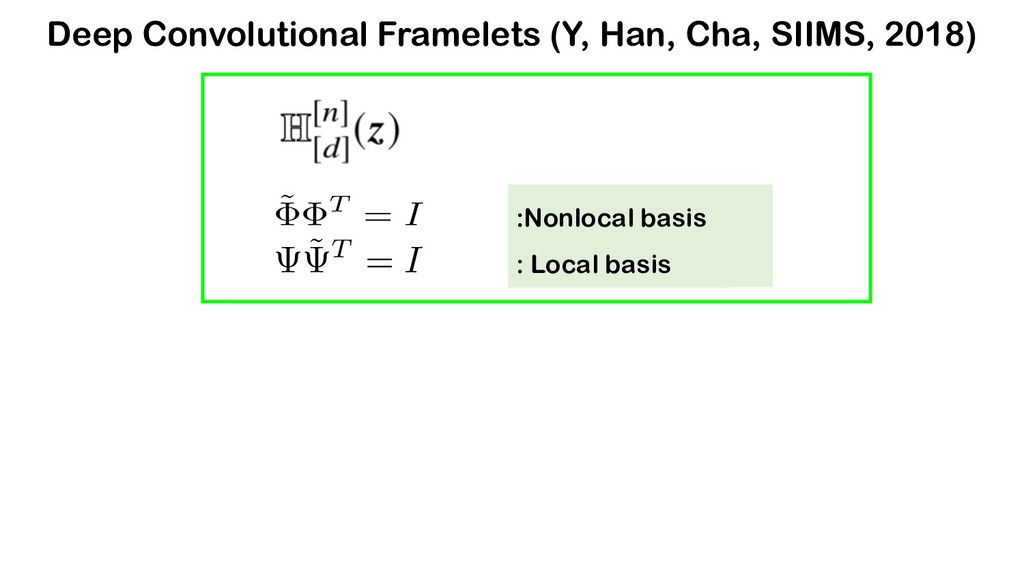 ˜ T = I : Non-local basis : Local basis :Nonloc...