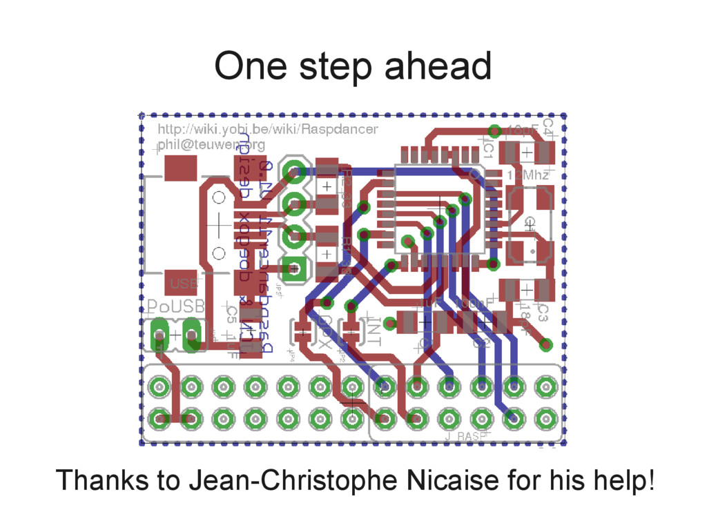 One step ahead Thanks to Jean-Christophe Nicais...