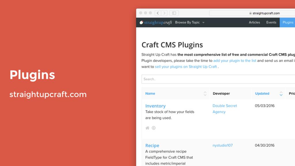 Plugins straightupcraft.com