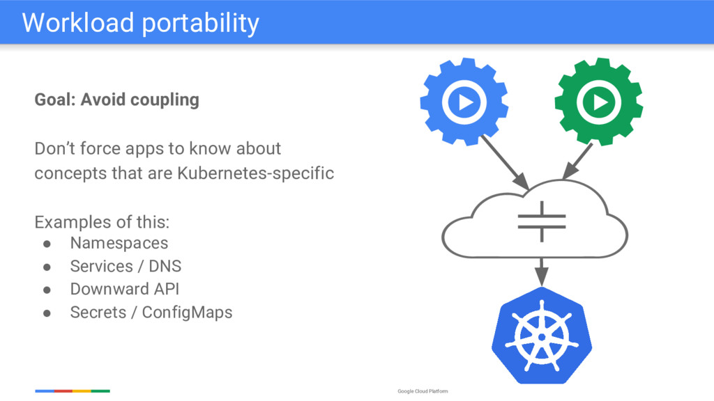 Google Cloud Platform Goal: Avoid coupling Don'...