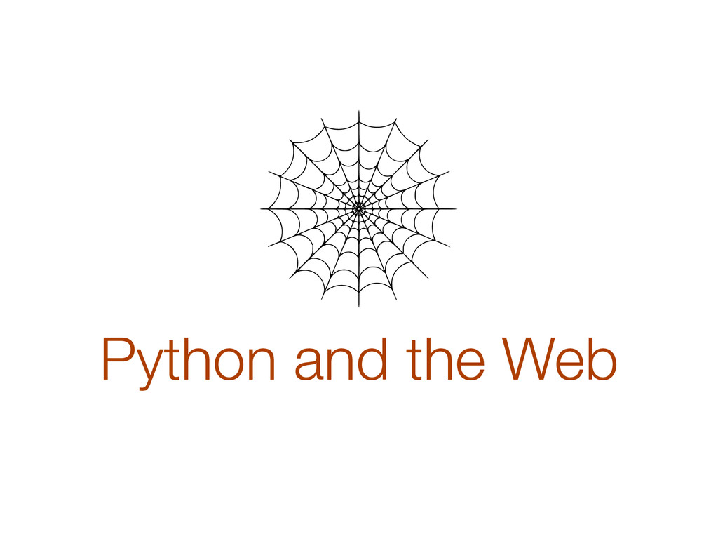 Python and the Web