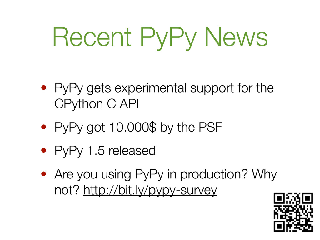 Recent PyPy News • PyPy gets experimental suppo...