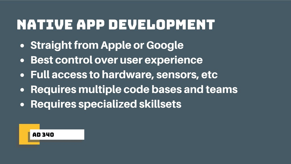 ad 340 native app development Straight from App...