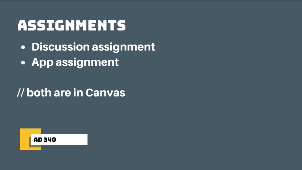 ad 340 Assignments Discussion assignment App as...
