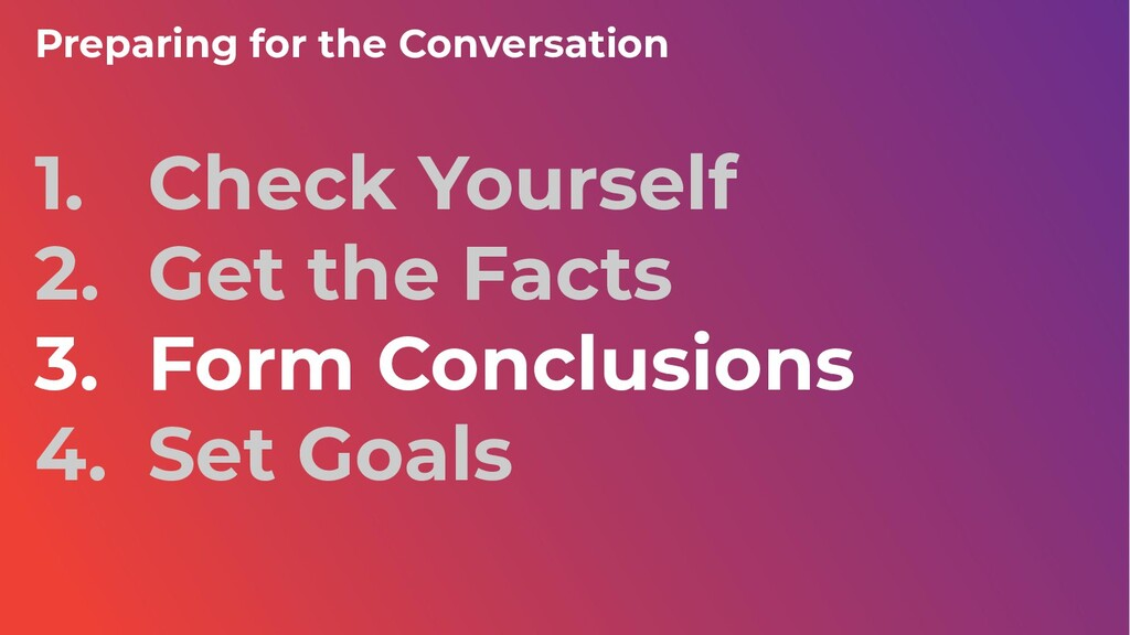 Preparing for the Conversation 1. Check Yoursel...