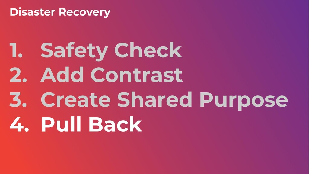 1. Safety Check 2. Add Contrast 3. Create Share...
