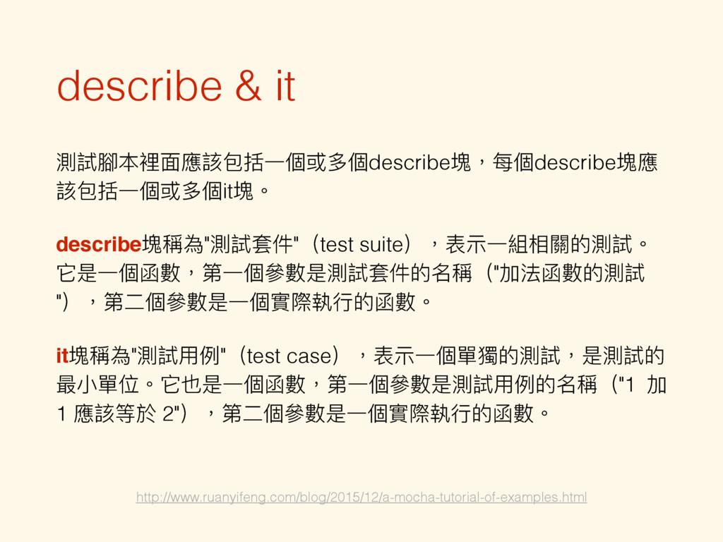 describe & it 介手脻愊ᶎ䛑扗۱ೡӞ㮆ग़㮆describe璸牧ྯ㮆descri...
