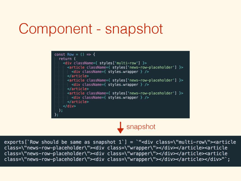 Component - snapshot snapshot