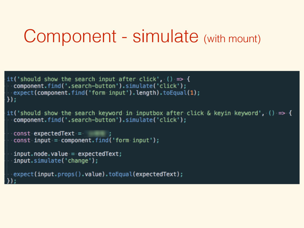 Component - simulate (with mount)