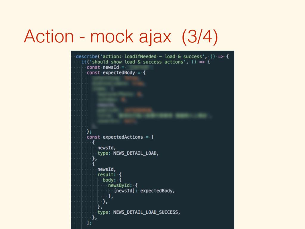 Action - mock ajax (3/4)