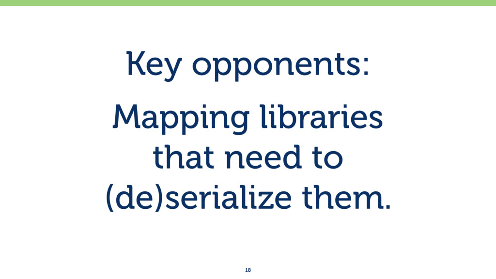 Key opponents: Mapping libraries