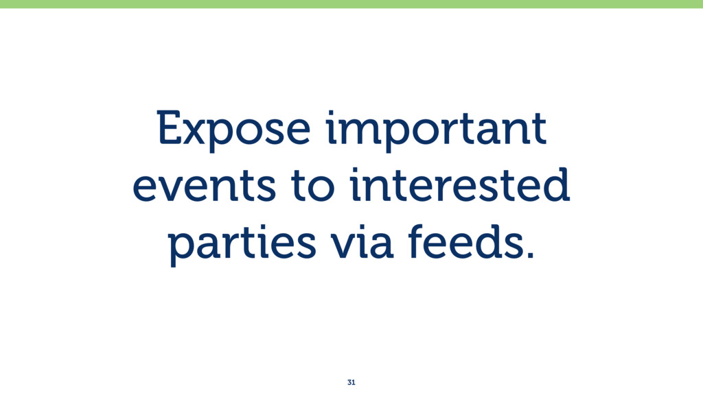 Expose important