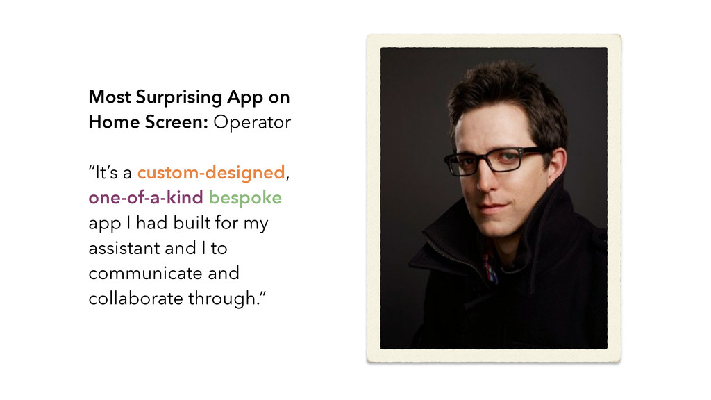 Most Surprising App on Home Screen: Operator ! ...