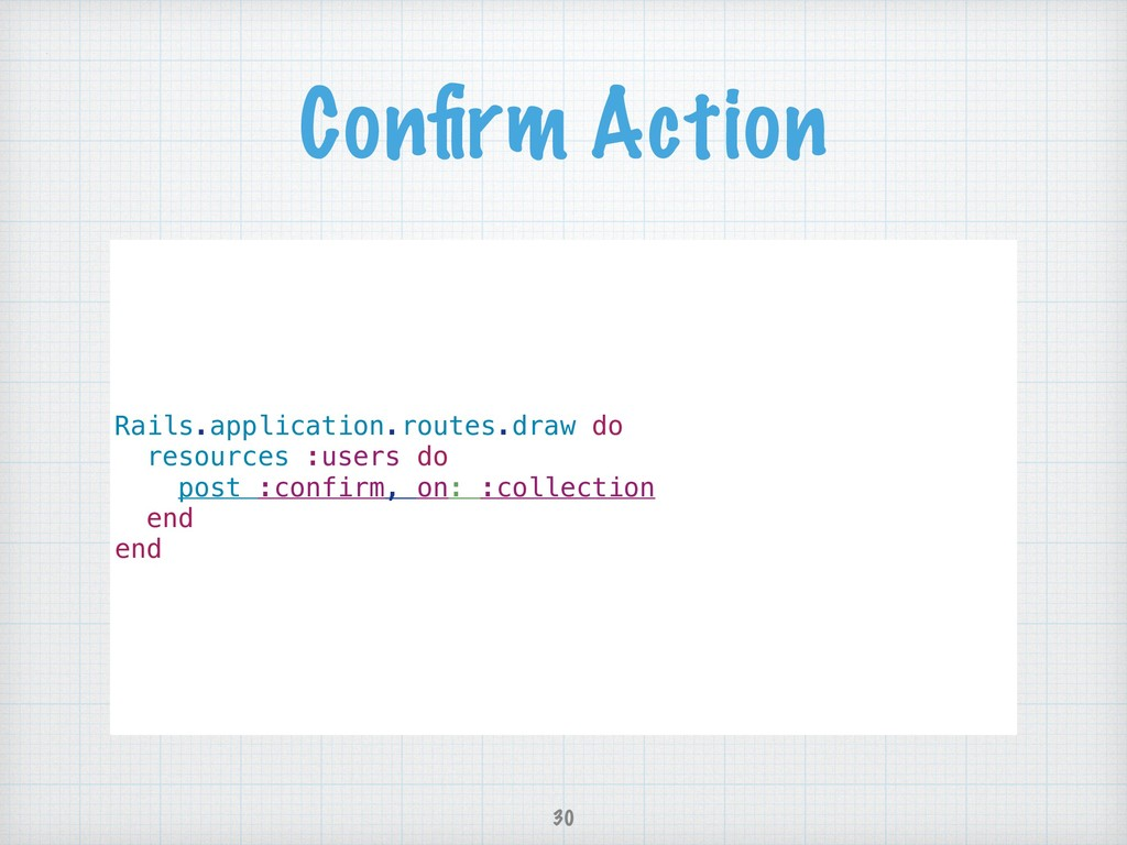 Confirm Action Rails.application.routes.draw do ...
