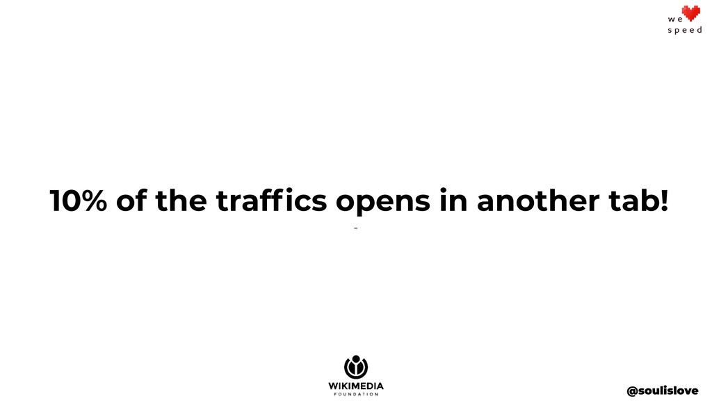 @soulislove 10% of the traffics opens in another...