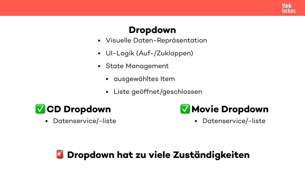 CD Dropdown • Datenservice/-liste Movie Dropdow...