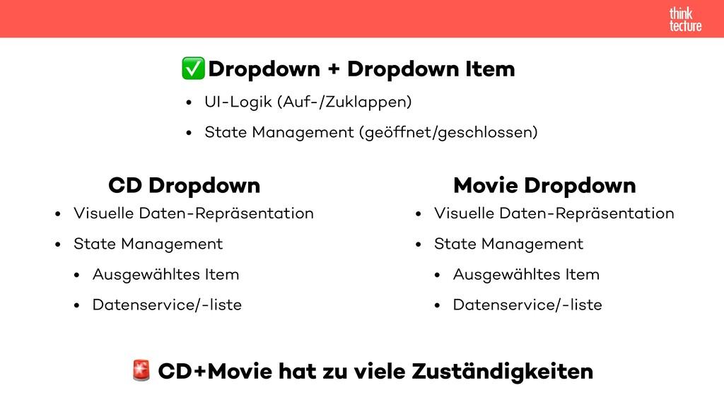 CD Dropdown • Visuelle Daten-Repräsentation   •...