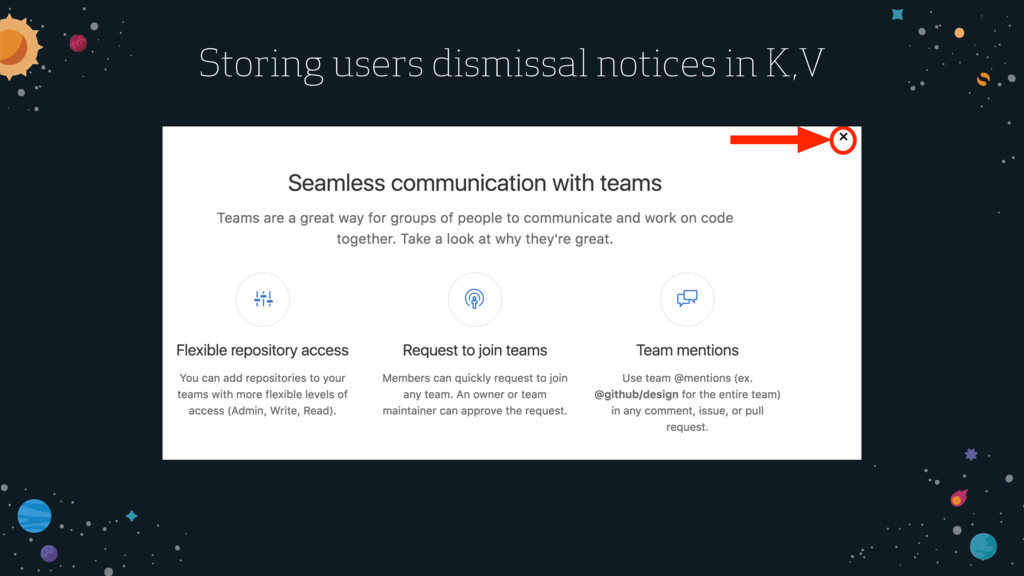 Storing users dismissal notices in K,V