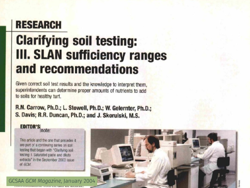 GCSAA GCM Magazine, January 2004