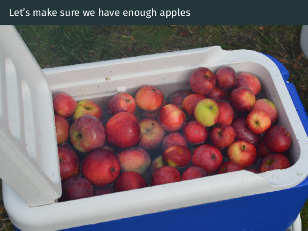 Let's make sure we have enough apples
