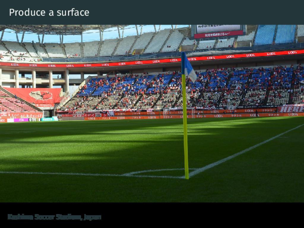 Produce a surface Kashima Soccer Stadium, Japan