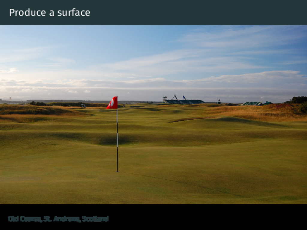 Produce a surface Old Course, St. Andrews, Scot...