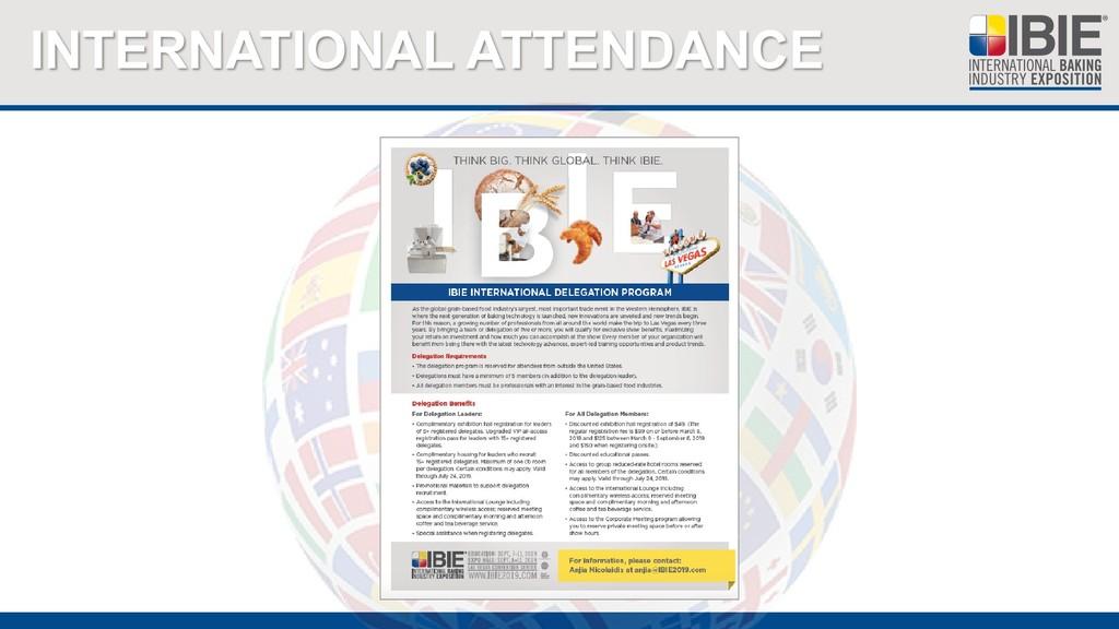 INTERNATIONAL ATTENDANCE