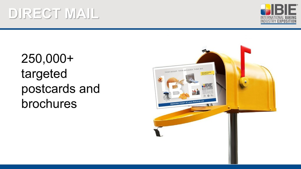DIRECT MAIL 250,000+ targeted postcards and bro...