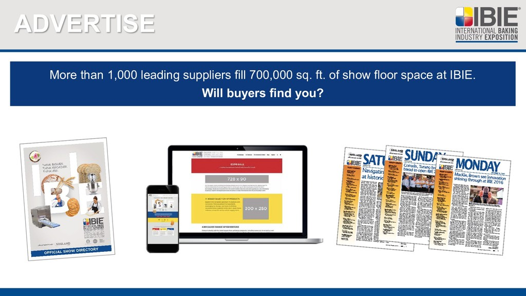 ADVERTISE More than 1,000 leading suppliers fil...