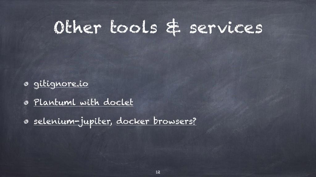 Other tools & services gitignore.io Plantuml wi...