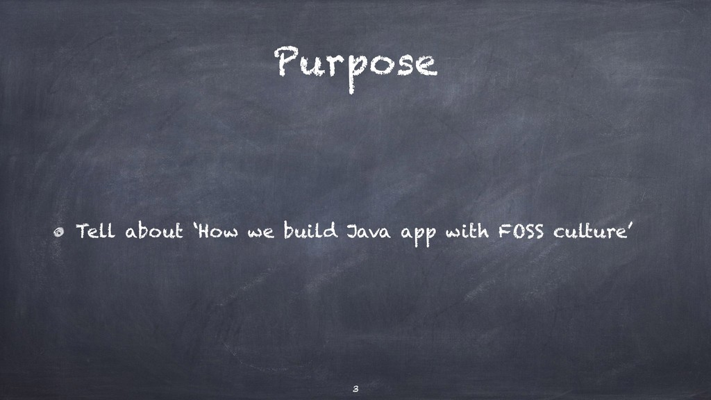 Purpose Tell about 'How we build Java app with ...