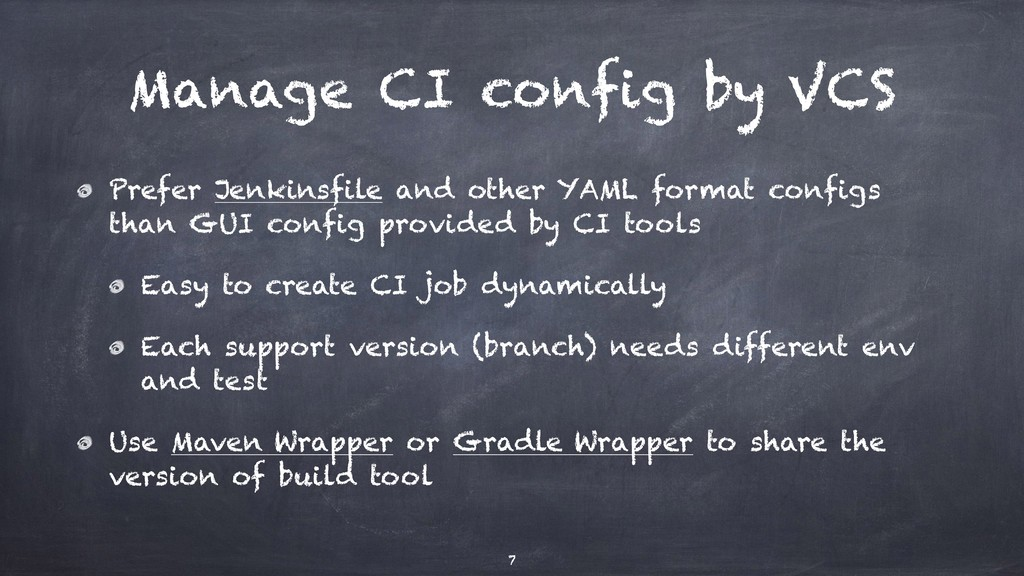 Manage CI config by VCS Prefer Jenkinsfile and ...