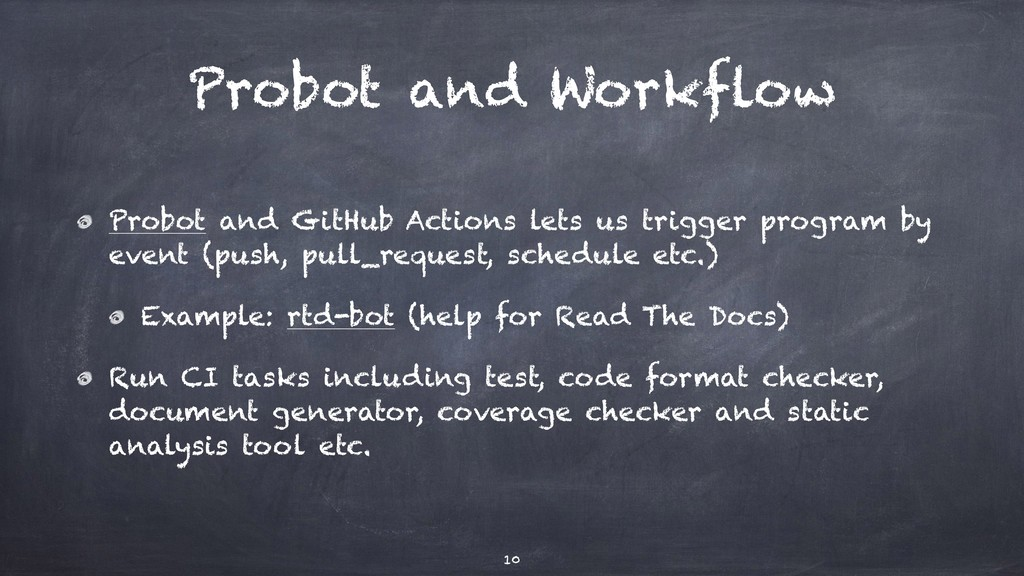 Probot and Workflow Probot and GitHub Actions l...