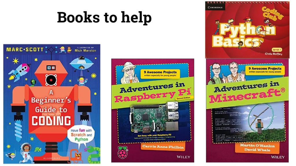 Books to help