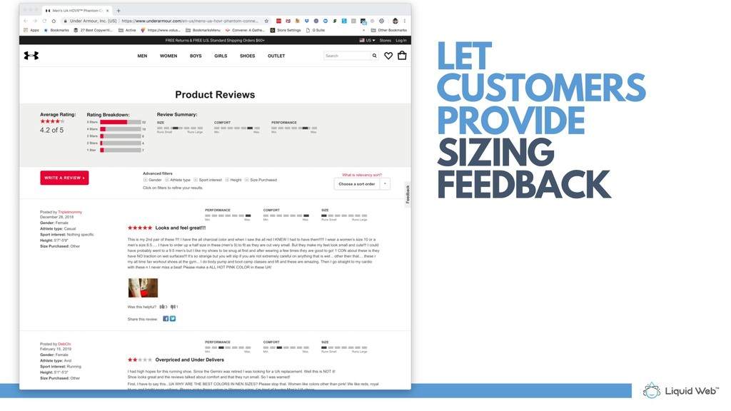LET CUSTOMERS PROVIDE SIZING FEEDBACK