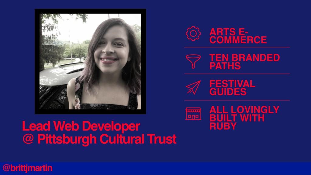 Lead Web Developer @ Pittsburgh Cultural Trust ...