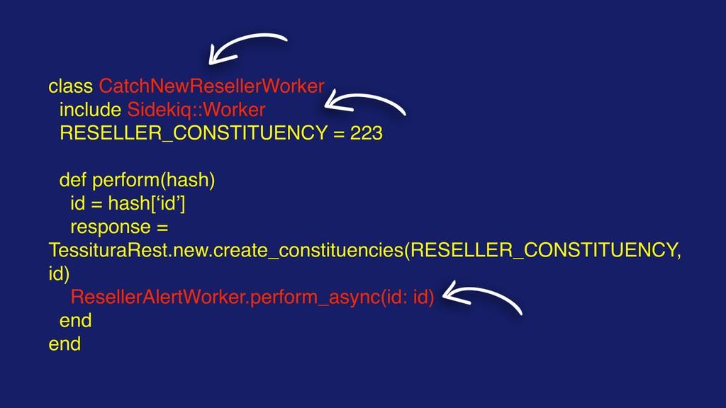 class CatchNewResellerWorker include Sidekiq::W...