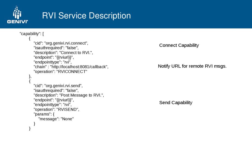 "RVI Service Description ""capability"": [ { ""cid""..."