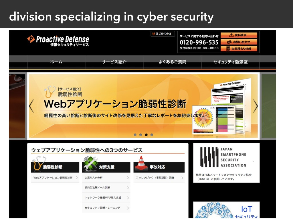 division specializing in cyber security