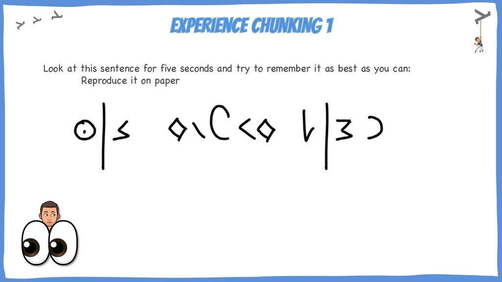 Experience chunking 1 Look at this sentence for...