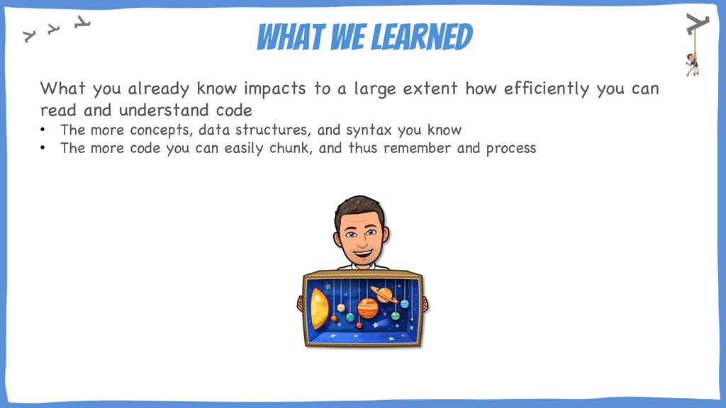 What we learned What you already know impacts t...