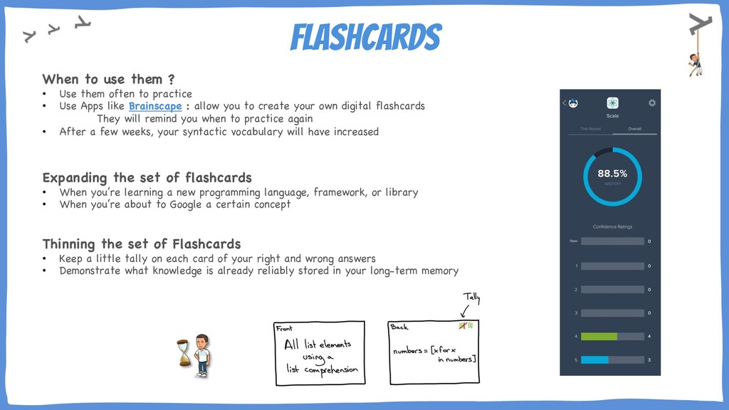 flashcards When to use them ? • Use them often ...