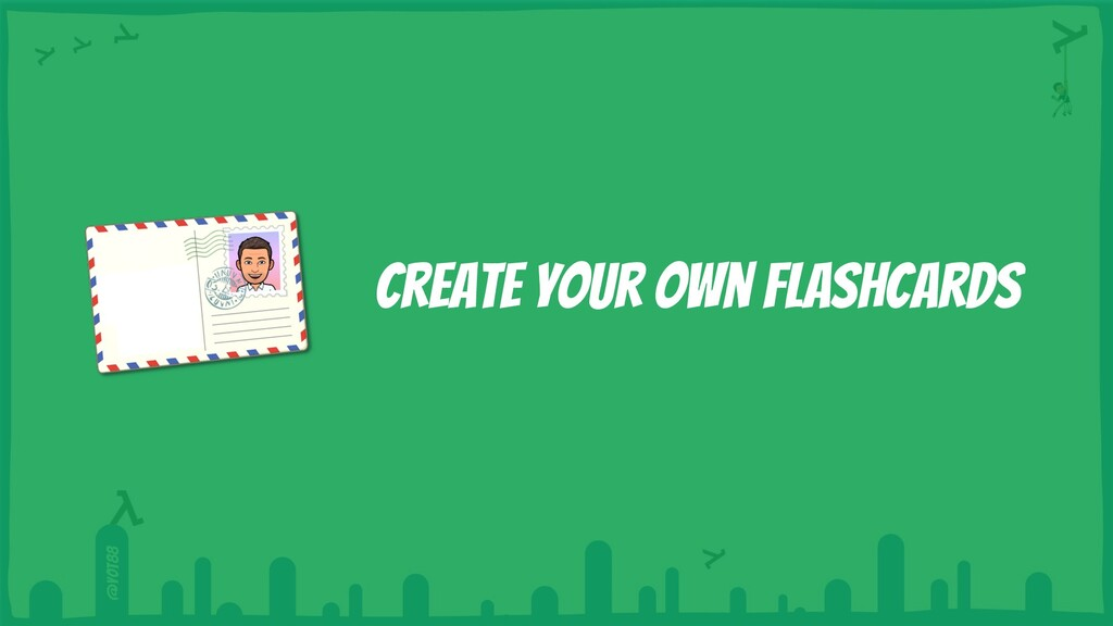 @yot88 Create your own flashcards