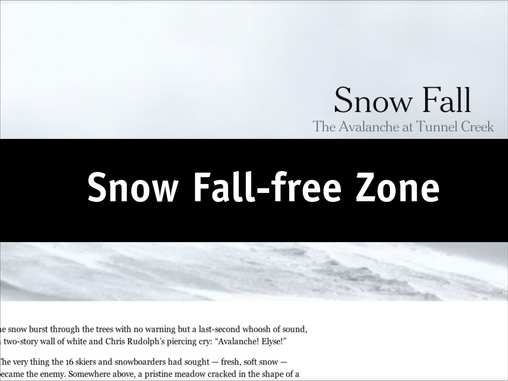 Snow Fall-free Zone